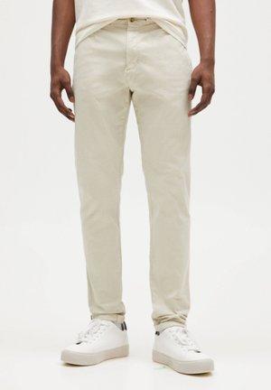 SLIM FIT - Chino - mottled beige