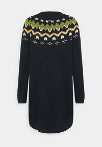 TOM TAILOR DENIM - KNITTED FAIRISLE  - Jumper dress - real navy blue - 1