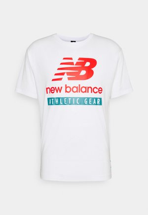 ESSENTIALS LOGO TEE - T-shirt med print - white