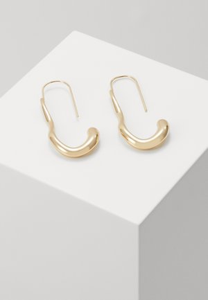 OVAL MOLTEN HOOPS - Øreringe - gold-coloured