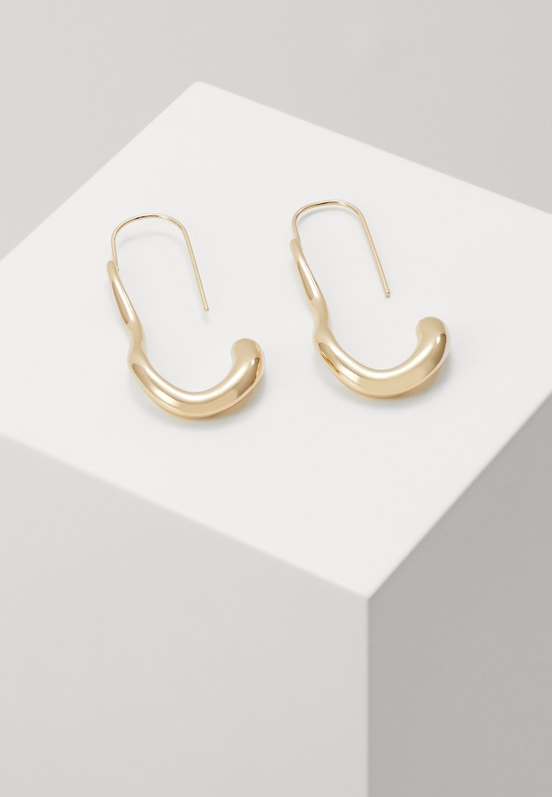 LIARS & LOVERS - OVAL MOLTEN HOOPS - Earrings - gold-coloured