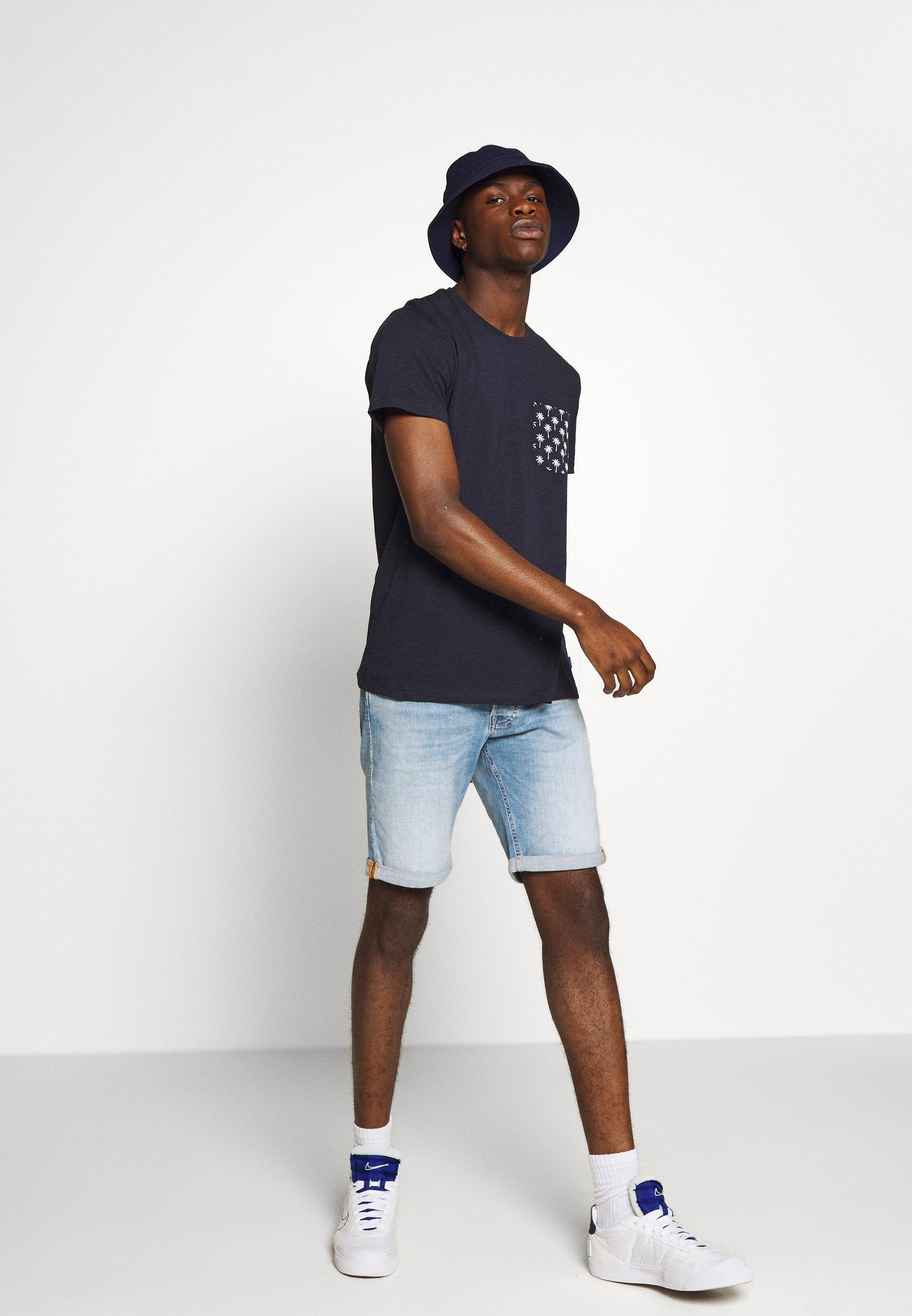 JJIRICK JJORG Shorts vaqueros blue denim