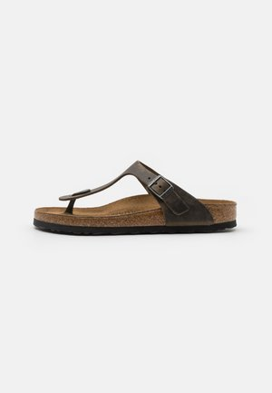 GIZEH UNISEX - T-bar sandals - faded khaki