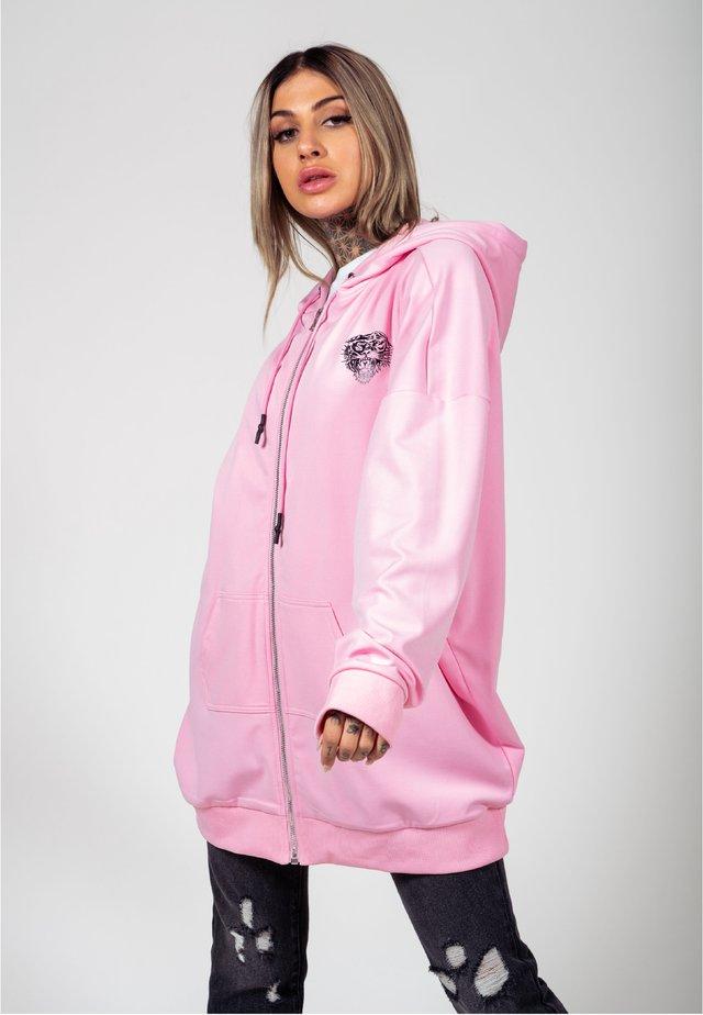 LOVE ED OVERSIZE ZIP HOODY - veste en sweat zippée - pink
