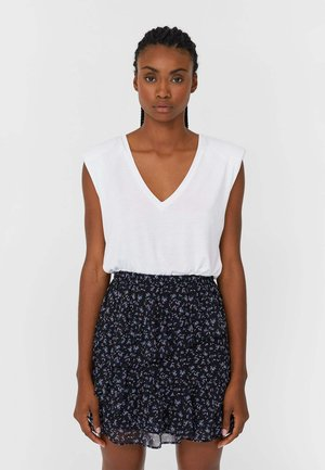 MIT VOLANTS - A-line skirt - black