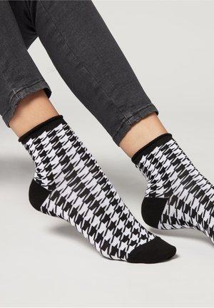 MIT ANIMALMUSTER - Socks - cuore azzurro denim