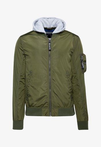 NASH-VILLE  MIT KAPUZE - Bomber Jacket - olive