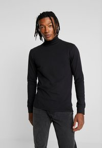 Only & Sons - ONSESSAY ROLLNECK TEE - Long sleeved top - black - 0