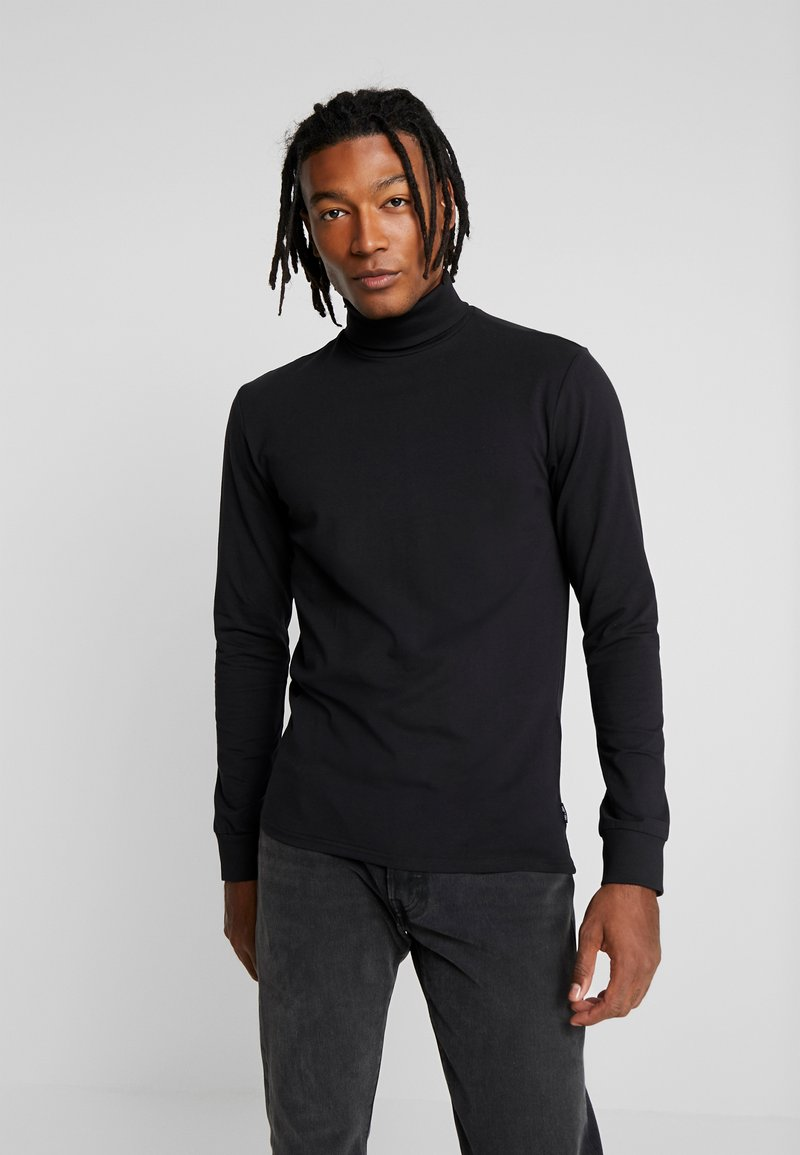 Only & Sons - ONSESSAY ROLLNECK TEE - Long sleeved top - black