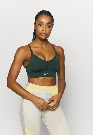 INDY SEAMLESS BRA - Sports bra - pro green/white