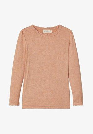 Langærmede T-shirts - café crème
