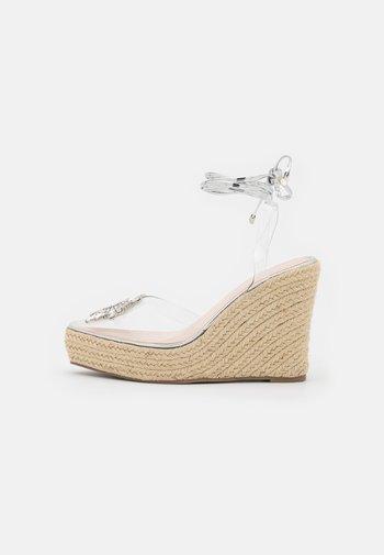 LIZBETH - Platform sandals - clear