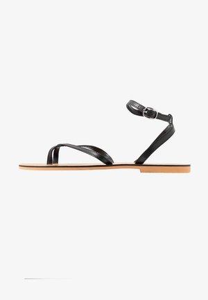 PANDA - T-bar sandals - black