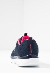 Skechers Wide Fit - GRACEFUL WIDE FIT - Zapatillas - navy/hot pink - 5