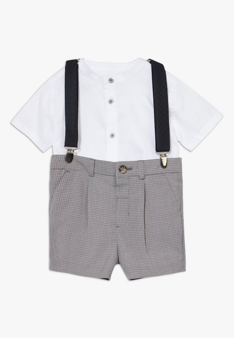 River Island - GREY CHECK SUIT - Shorts - grey