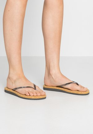 NOBLE CORGI - T-bar sandals - steel/dark silver