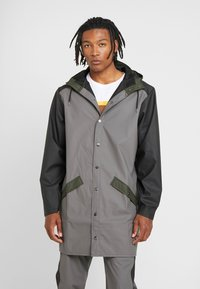 Rains - LIMITED EDITION COLOR BLOCK LONG - Regenjas - charcoal/black - 0