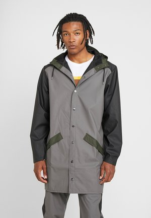 LIMITED EDITION COLOR BLOCK LONG - Waterproof jacket - charcoal/black