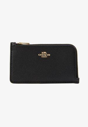 SMALL L ZIP CARD CASE - Wallet - black