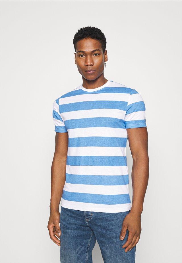 Print T-shirt - sapphire blue/white