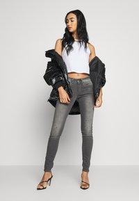 G-Star - LYNN MID SKINNY - Jeans Skinny Fit - slander grey superstretch - 1