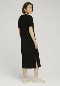 TOM TAILOR DENIM - Jersey dress - deep black - 2
