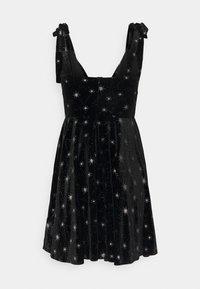 Missguided - PRINT TIE STRAP DRESS - Kjole - black - 1