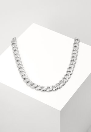 BIG CHAIN NECKLACE - Naszyjnik - silver-coloured