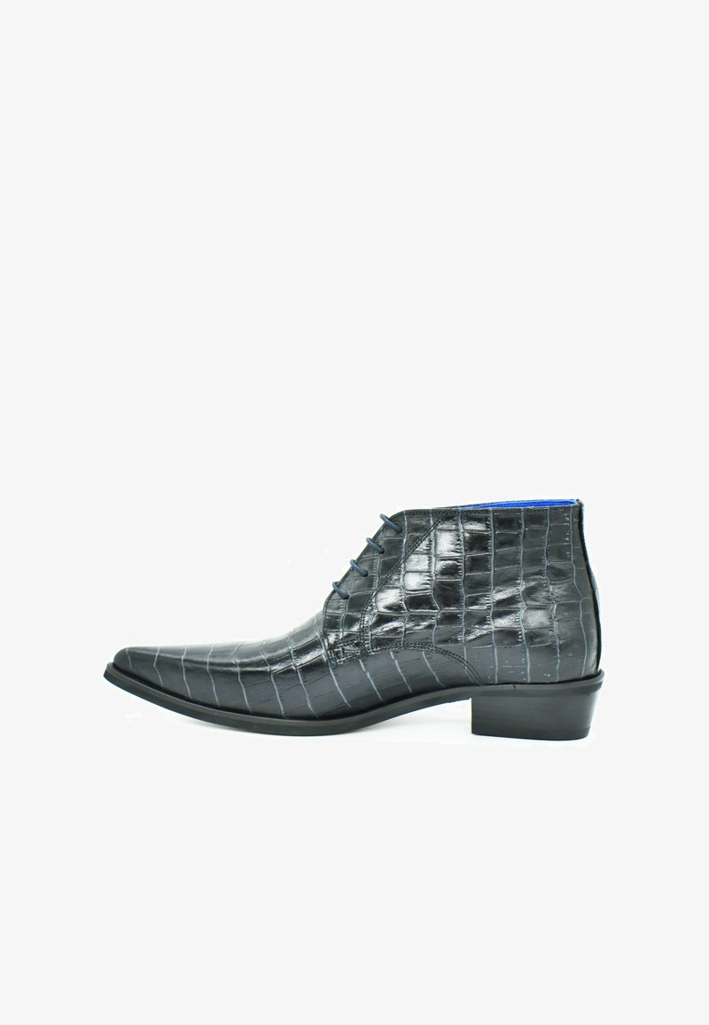 Fertini - Lace-up ankle boots - metallic gray