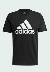 adidas Performance - ESSENTIALS BIG LOGO T-SHIRT - Print T-shirt - black - 8