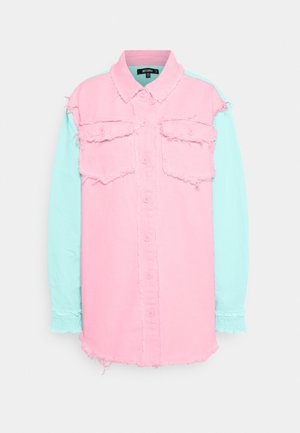 FRAYED COLOURBLOCK  - Bluser - pink