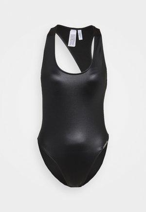 CORE ESSENTIALS SCOOP BACK ONE PIECE - Costume da bagno - black