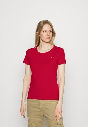 SLIM ROUND NECK - Basic T-shirt - primary red