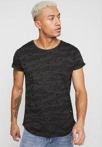 G-Star - VONTONI RELAXED - Print T-shirt - raven/dark black - 0