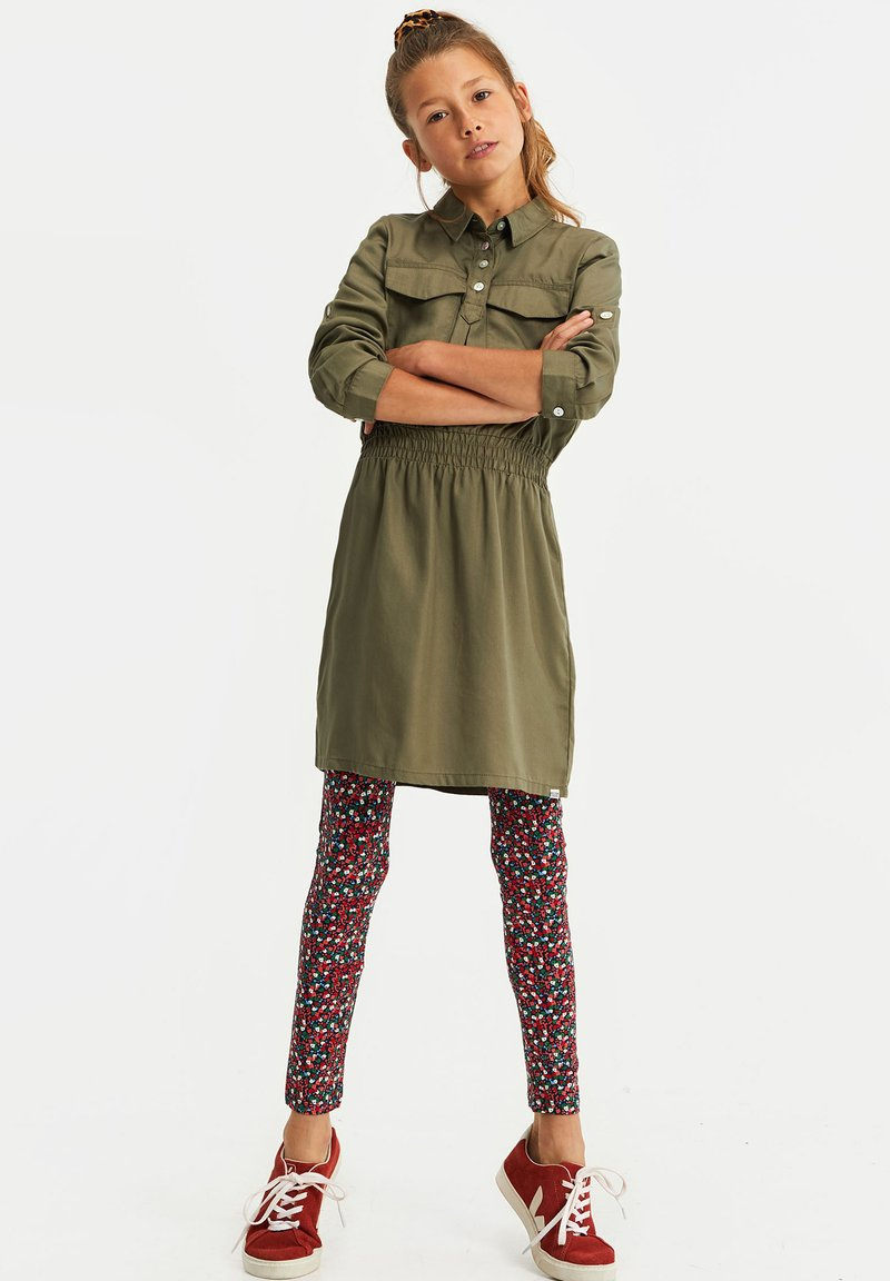 WE Fashion - MET BLOEMENPRINT - Leggings - Trousers - multi-coloured