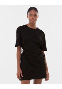Bershka - Jersey dress - black - 0