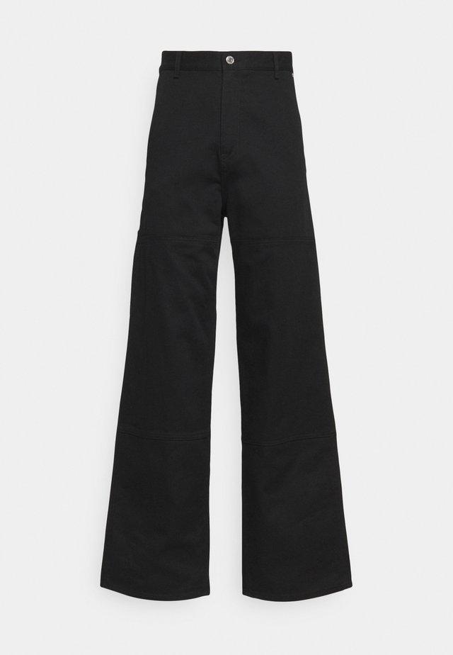 UNISEX HORACE CARPENTER TROUSERS - Kalhoty - black