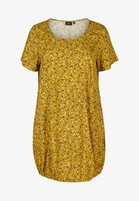 Zizzi - Day dress - yellow ditsy flower - 3