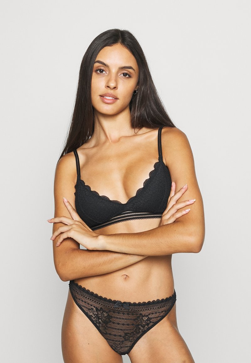 Gilly Hicks - DITSY DAISY TRAINGLE - Triangle bra - black