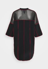 The Ragged Priest - PANELLED SKATER DRESS CONTRAST EXPOSED SEAMS - Jerseykjole - black - 1