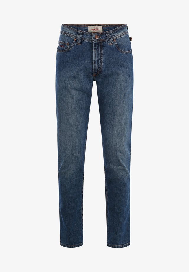 TORONTO - Slim fit jeans - blue + scraping