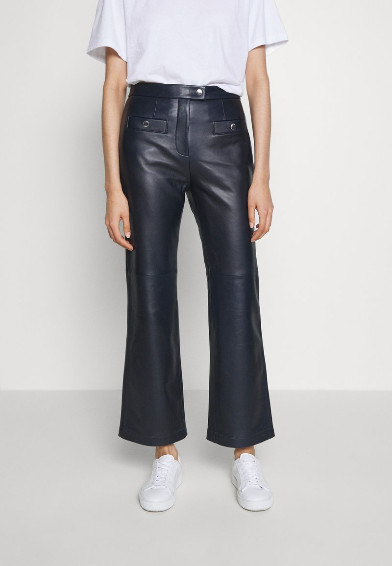 Coach - PANT - Leather trousers - navy