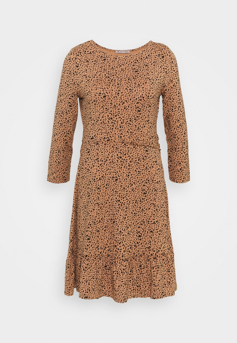Anna Field - Jersey dress - camel/black