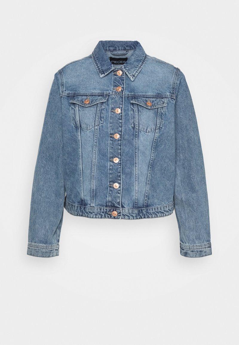 Pieces Curve - PCLOU  - Denim jacket - light blue denim