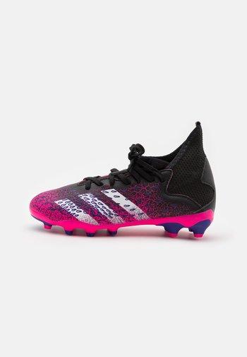 PREDATOR FREAK .3 MG UNISEX - Moulded stud football boots - core black/footwear white/shock pink