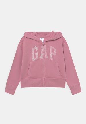 FLIPPY LOGO - Sweater met rits - polignac pink