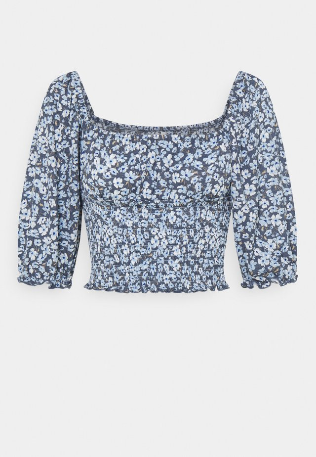 ONLPELLA SMOCK - Print T-shirt - vintage indigo