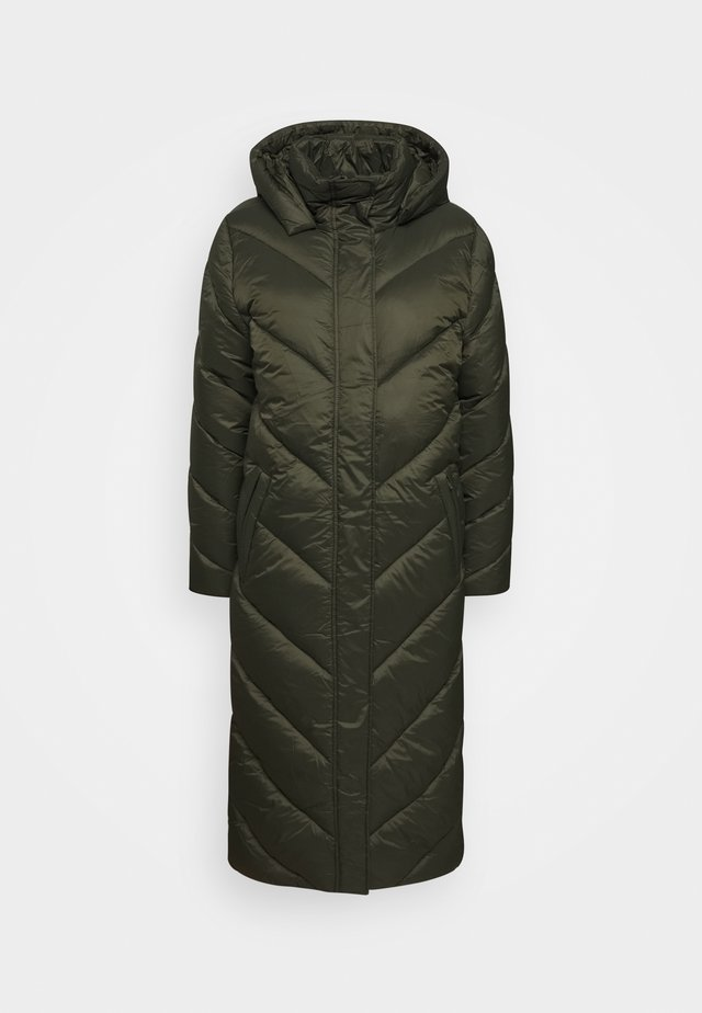 CATJA LONG JACKET - Cappotto invernale - army green