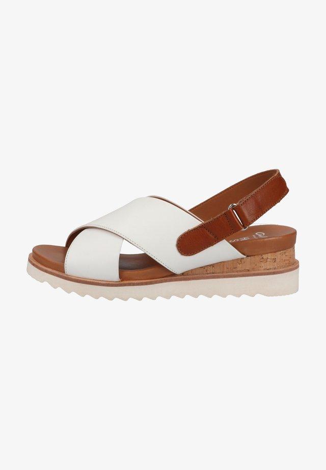Sandales à plateforme - weiss,cognac