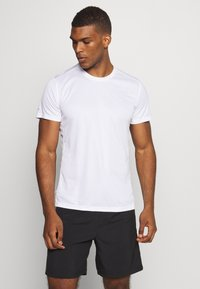 adidas Performance - RESPONSE AEROREADY RUNNING SHORT SLEEVE TEE - Triko s potiskem - white - 0